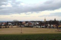 небольшая церковь в городе Vidnava стоковые изображения