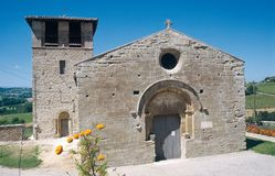 Небольшая церковь романск в северном DrÃ'me стоковое фото