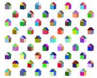 Небольшие дома других цветов Стоковые Изображения