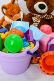 Небольшие формы игрушек младенца, красочных, различных и размеры стоковое изображение
