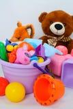 Небольшие формы игрушек младенца, красочных, различных и размеры стоковые фото