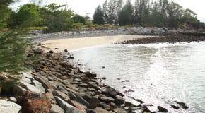 Небольшой частный пляж в Langkawi стоковые изображения