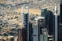 Небоскребы всемирного торгового центра в Дубай Стоковое фото RF
