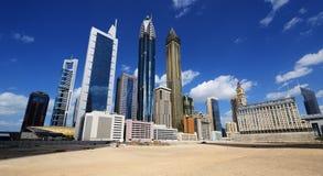 Небоскребы всемирного торгового центра Дубай Стоковые Фотографии RF