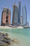 Небоскребы в Абу-Даби Стоковая Фотография
