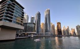 Небоскребы в Дубай Стоковые Фотографии RF