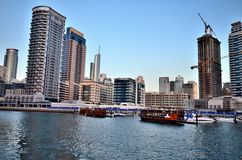 Небоскребы в Дубай Стоковые Фото
