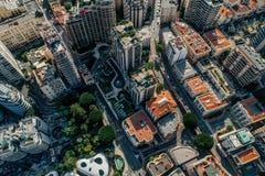 Небоскребы в фото лета трутня riviera города Монако Монте-Карло стоковое изображение