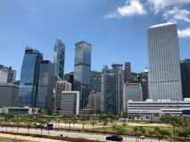 Небоскребы в центральном районе в Гонконге Стоковые Фото