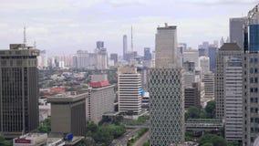 Небоскребы в центре Джакарты, Индонезии сток-видео