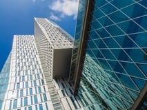 Небоскребы в центре Франкфурта, Германии Стоковые Фотографии RF
