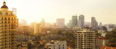 Небоскребы в Penang, Малайзии Стоковое фото RF