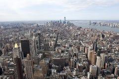 Небоскребы горизонта NY от Эмпайра Стейта Билдинга Стоковое фото RF