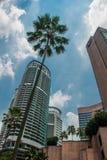 Небоскребы города Куалаа-Лумпур, Малайзии стоковая фотография rf