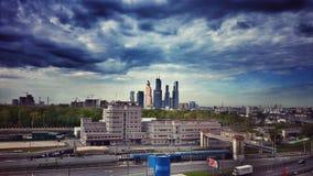 Небоскребы города Москвы Стоковые Изображения RF