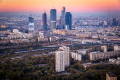 Небоскребы города Москвы (MIBC) стоковые изображения rf