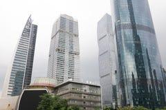 Небоскребы Гуанчжоу, Китай Стоковое Изображение