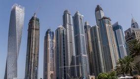 Небоскребы Дубай снизу Стоковая Фотография