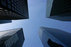 небоскребы заречья финансовохозяйственные стеклянные Стоковые Фото