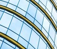 Небоскребы здания в самомоднейшем футуристическом центре города Стоковое Изображение RF