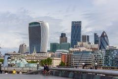 Небоскребы Лондона Стоковые Изображения