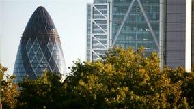 Небоскребы Лондона; устанавливать съемку акции видеоматериалы