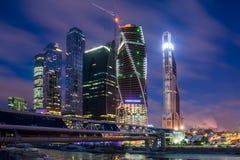 Небоскребы Москвы. Стоковое Изображение RF