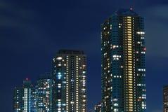 небоскребы ночи Стоковое Фото