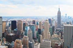 Небоскребы Нью-Йорка Манхаттана Стоковые Изображения RF