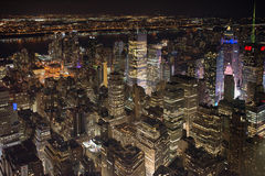 Небоскребы Нью-Йорка на Манхаттане Стоковое Изображение