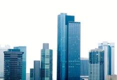 небоскребы основы frankfurt стоковое фото rf