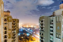 Небоскребы при городской пейзаж noida показывая между ими Стоковые Изображения