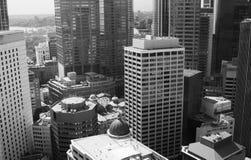 небоскребы Сидней города bw Стоковая Фотография