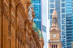 Небоскребы Сиднея, Австралия стоковые фотографии rf