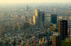 Небоскребы. Токио стоковые изображения