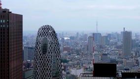 Небоскребы токио Shinjuku - вида с воздуха - ТОКИО/ЯПОНИЯ - 17-ое июня 2018 видеоматериал