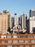 Небоскребы центра города Манхаттана Стоковое Изображение