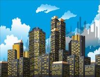 небоскребы иллюстрация штока