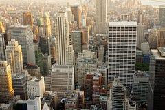 небоскребы manhattan сумрака Стоковые Изображения RF