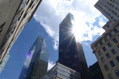 небоскребы nyc Стоковая Фотография