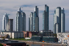 Небоскребы, Puerto Madero, Buenos Aires Стоковое Фото