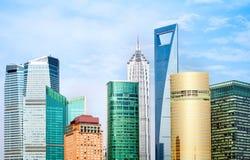 небоскребы shanghai фарфора Стоковая Фотография RF