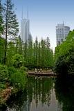 небоскребы shanghai стоковое изображение rf