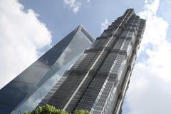 небоскребы shanghai Стоковые Фотографии RF