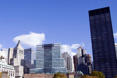 небоскребы york manhattan новые Стоковые Фотографии RF
