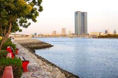 Небоскреб в Рас-Аль-Хайма, ОАЭ Стоковое Изображение RF