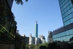 Небоскреб в Тайбэе, Тайване Стоковые Фотографии RF