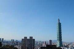 Небоскреб в Тайбэе, Тайване Стоковая Фотография RF