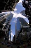 Небоскреб горизонта финансового центра Гонконга центральный Стоковые Изображения RF