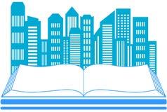 Небоскреб и книга - символ недвижимости иллюстрация вектора